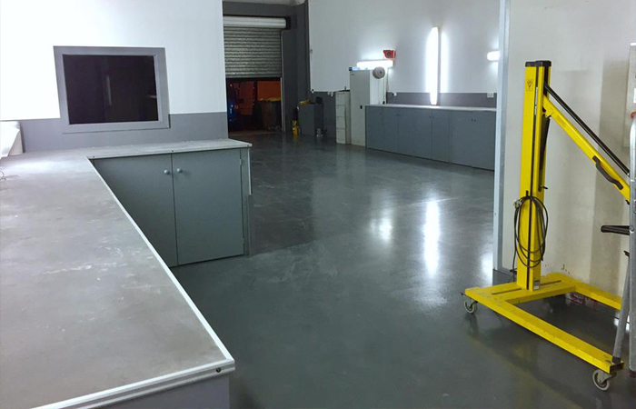 Inside NuFinish repair centre rear