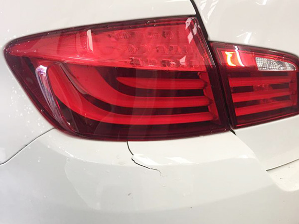 Light Damage back bumper